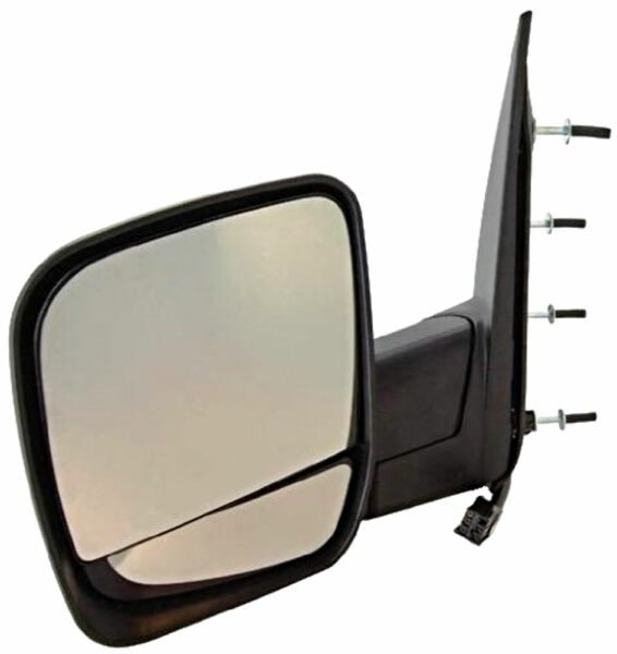 Fits 03-09 Ford E-Series Left Driver Manual Mirror Man Fold W/Light /Dual Glass