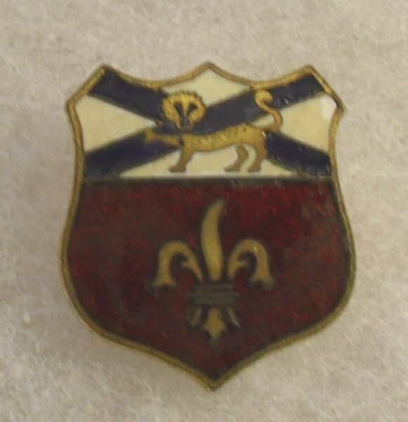 WWII 242ND COASTAL ARTL CORPS VARIANT DIDUI SCREW BACK