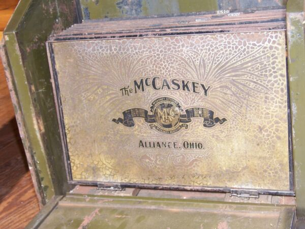 Antique McCaskey Safety Account Register Safe Brass Dial Great Steampunk Decor