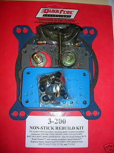 Quick Fuel 3-200A Holley 4160 Carburetor Rebuild Kit 390 600 750 CFM 1850 3310