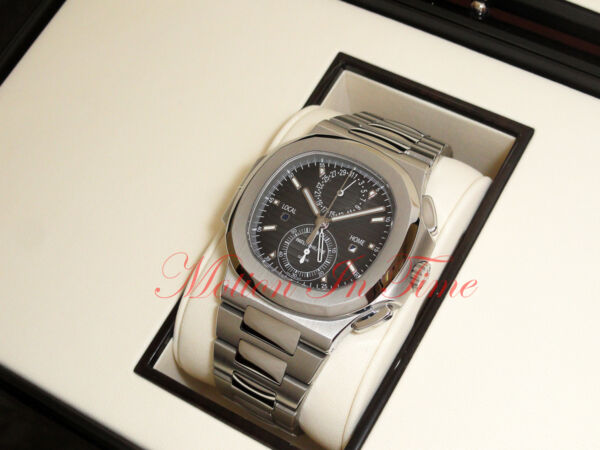Patek Philippe 59901A Stainless Steel Nautilus Chronograph Dual Time Zone 40.5m