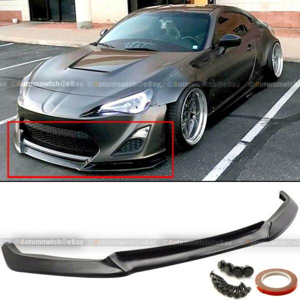 Fit 13 16 Scion FRS Urethane GT Style PU Front Bumper Chin Lip Spoiler Body Kit