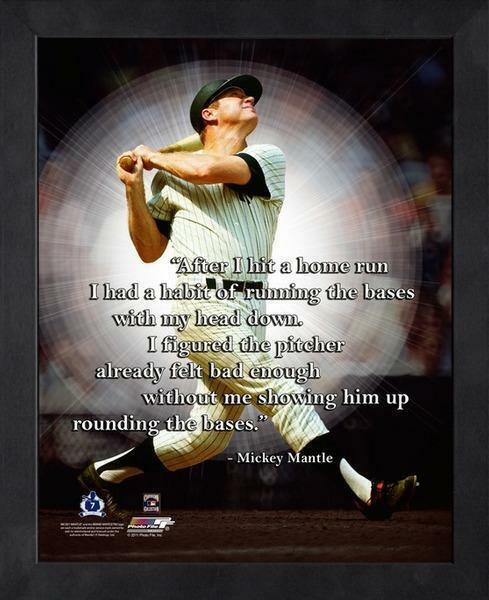 MICKEY MANTLE ~ 8x10 Color Pro Quote Photo Picture ~ Framed 9x11 ~