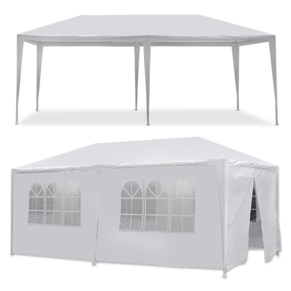 10 x 20#x27; Outdoor Gazebo Party Tent with 6 Side Walls Wedding Canopy Cater Events
