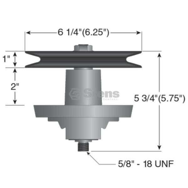 Replacement Spindle Cub Cadet LT1042  Later Model MTD 700 Series With 42