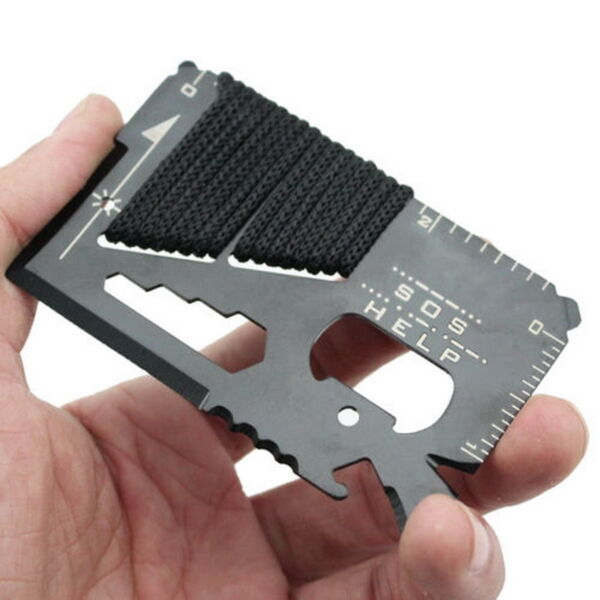 Purpose Pocket Credit Card Survival Knife Outdoor Camping Tools 14 in 1 Multi