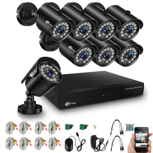 XVIM 8CH 1080P HDMI DVR Outdoor Night Vision 1920TVL CCTV Security Camera System