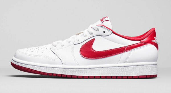 New NIKE AIR JORDAN 1 RETRO LOW OG MENS SHOES WHITE VARSITY RED 705329-101