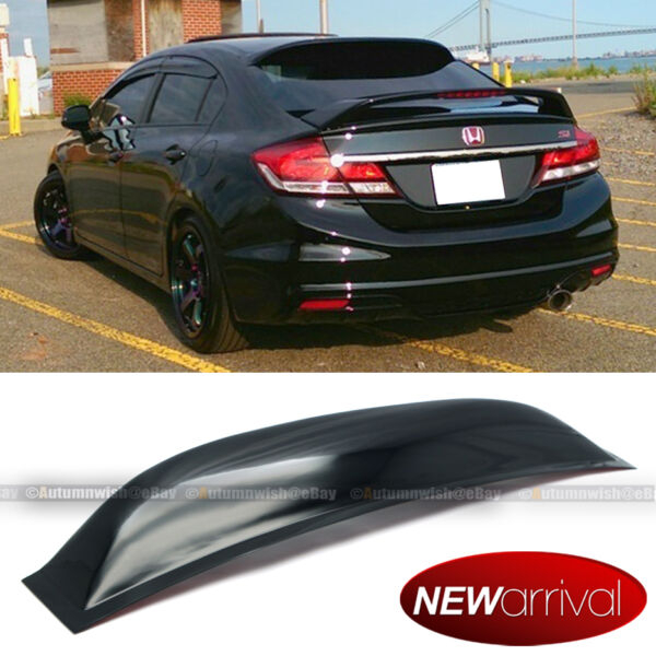 Fit 12 15 Honda Civic 4DR Sedan Acrylic Rear Window Roof Vent Visor Spoiler Wing