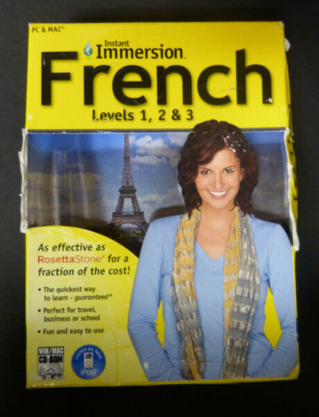 Instant Immersion French Levels 1 2 amp; 3 PC amp; MAC $17.99