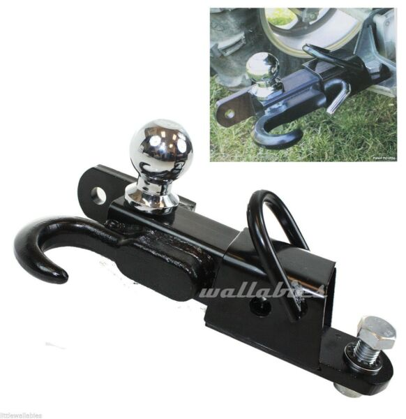 ATV Receiver Trailer Hitch 3 Way 2quot; Hitch Ball Hitching Towing Hook 3500lbs $46.99