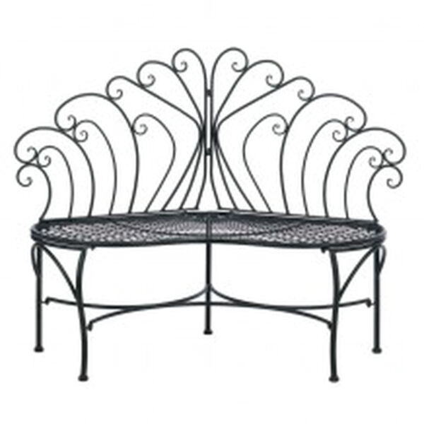 PEACOCK INSPIRED PATIO BENCH Home Decorative Outdoor Living Accents Garden Seats