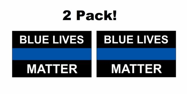 2 Pack POLICE BLUE LIVES MATTER 5quot; x 3quot; DECALS STICKER POLICE CAR TRUCK USA