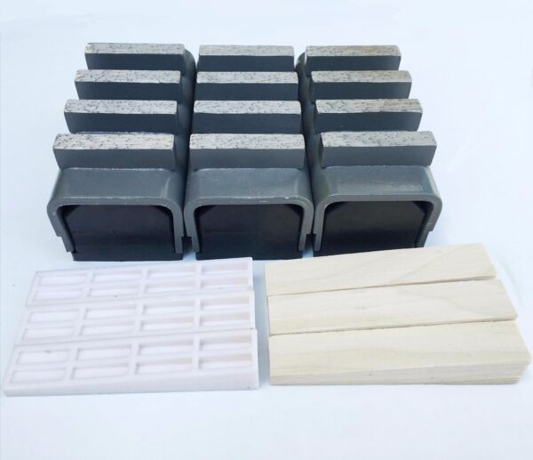 New 3PK 30 40 Med Bond Diamond Grinding Blocks Fit EDCOSTOWHUSQ.amp;Gen. Grinders