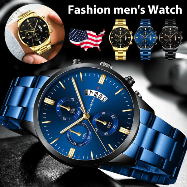 Men#x27;s Date Quartz Military Digital Tactical Fashion Shock Sports LED Wrist Watch