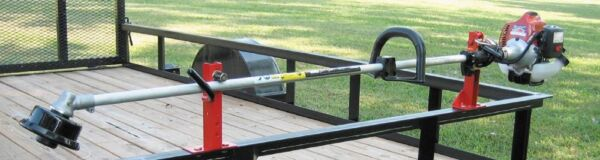 JUNGLE JIM#x27;S 1 TRIMMER TRAILER RACK SYSTEM HOLDS 1 TRIMMER 1TR $79.95