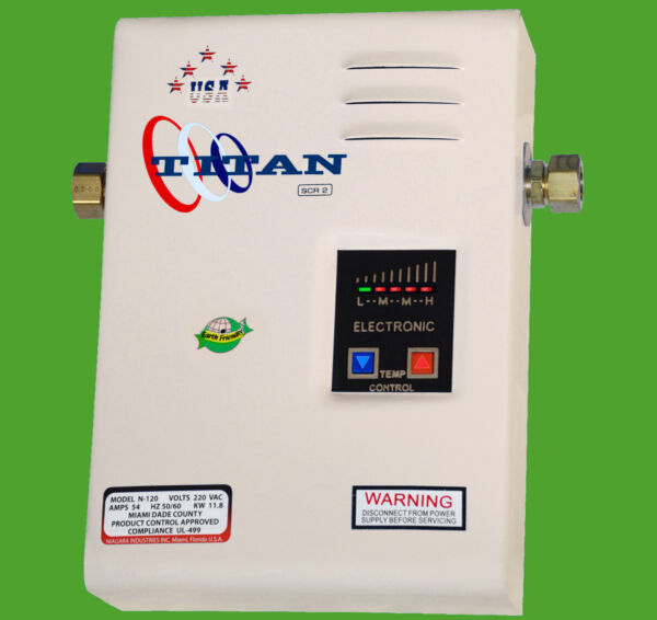Electric SCR2 Titan N 120 Tankless Water Heater Brand New Free Shipping $243.00