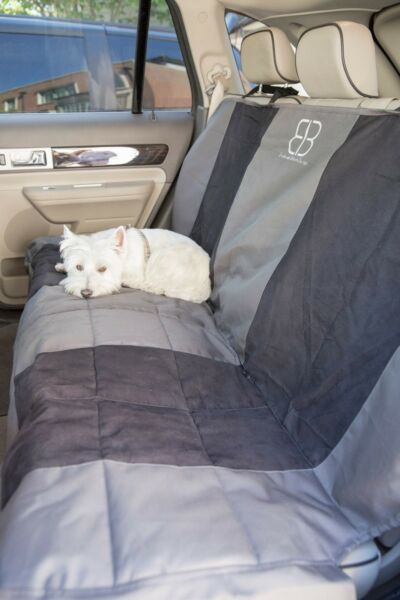 Petego EB Velvet Multi Fabric Rear Seat Cover Protector XLG Black and Anthracite $59.99
