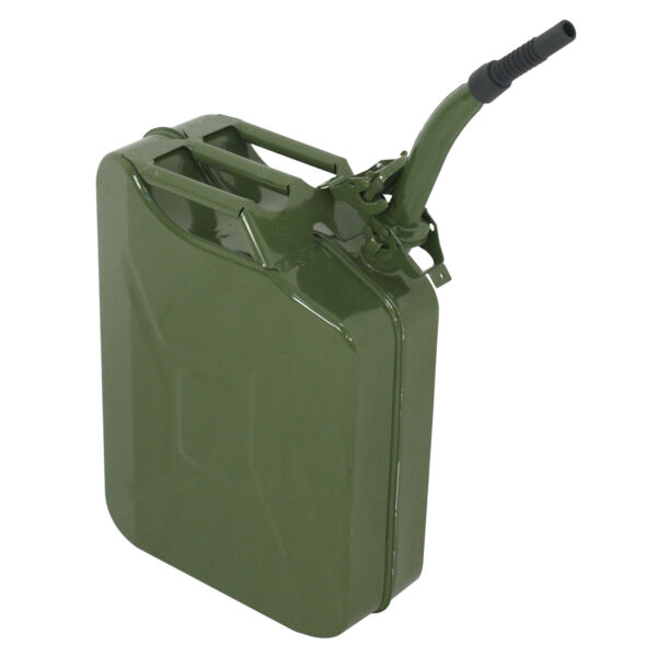 Jerry Can 5 Gal 20L NATO Style Gasoline Fuel Can Metal Gas Tank Emergency Backup $30.99