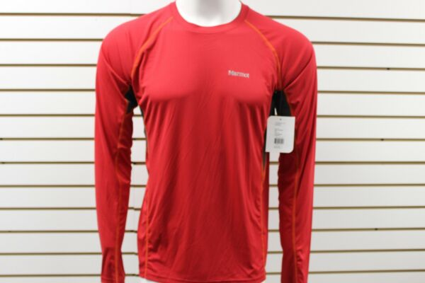 Men's Marmot Frequency Long Sleeve Team Red 50160 Brand New With Tag