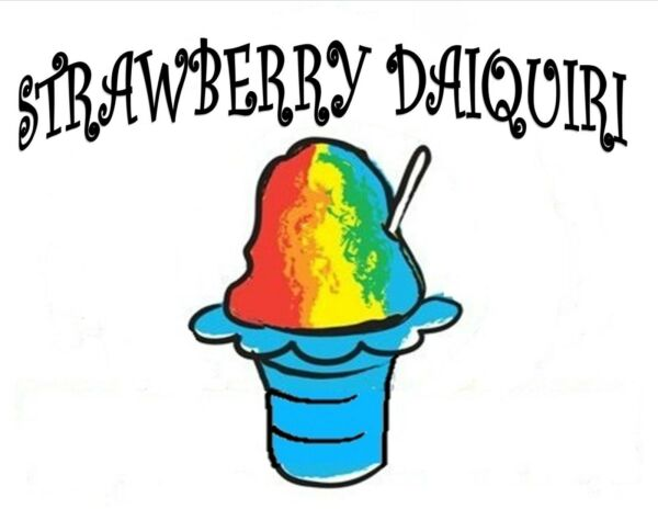 STRAWBERRY DAIQUIRI SYRUP MIX Snow CONESHAVED ICE Flavor GALLON CONCENTRATE #1