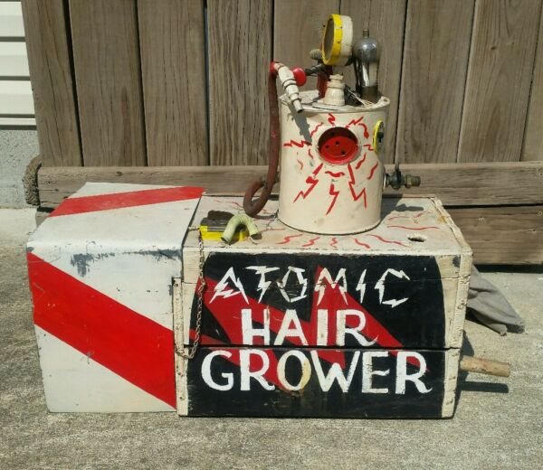 Antique Vintage Circus Carnival Clown Prop Display Americana Art Beer Box Crate