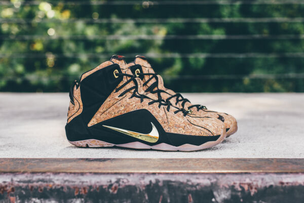 Nike Lebron 12 XII EXT Kings Cork Basketball Shoes 768829-100 SHIPS DOUBLE BOXED