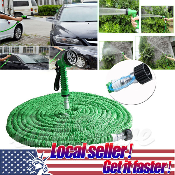 US SHIP 25 50 75 100 200 ft Magic Hose Home Garden Expandable Pocket Water Hose