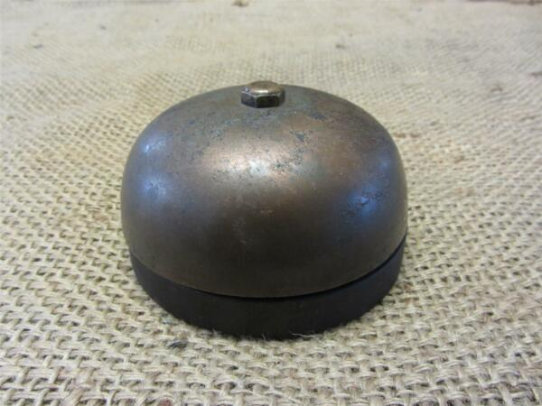 Vintage Ornate Brass Bell  Antique Old Iron Pat 1902 Boxing Door Bells 7873