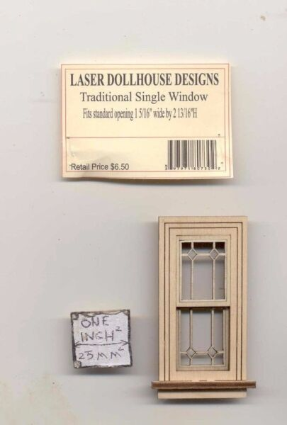 Half 1 24 Scale Craftsman Single Window LD0736 dollhouse miniature USA GA