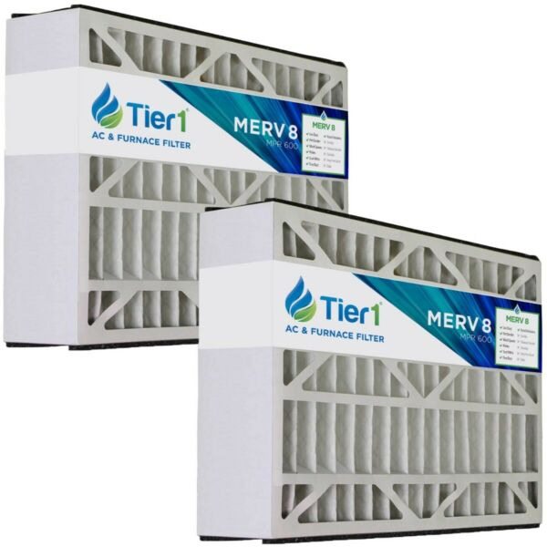 Tier1 16x25x5 Merv 8 Skuttle Replacement AC Furnace Air Filter (2 Pack)