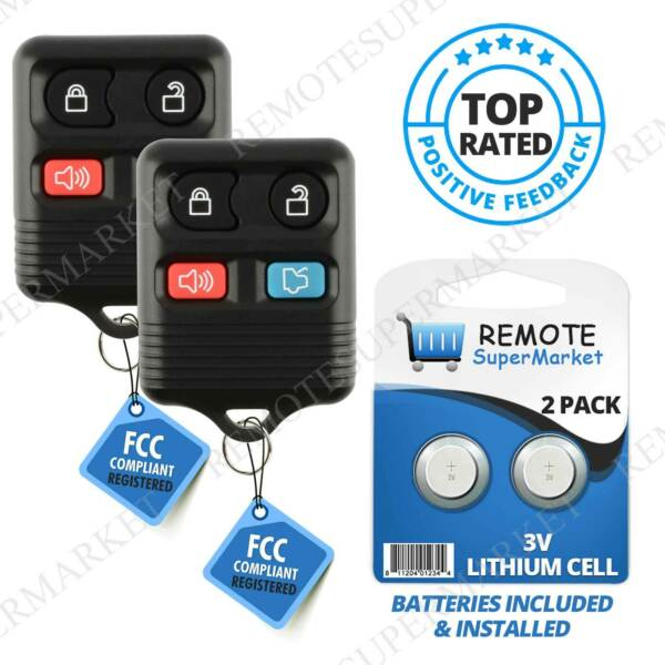 2 Replacement for Mercury 2006 11 Grand Marquis 2005 11 Mariner Remote Key Fob $6.98