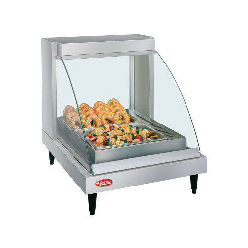 Hatco GRCD-1P Countertop Heated Display with Curved Glass and 1 Pan Single Shelf