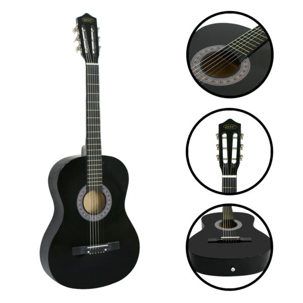 Classical Beginners Acoustic Guitar WCase Strap Tuner & Pick Gift to Kids