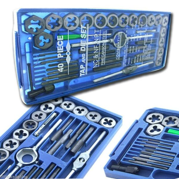 80pc SAE amp;Metric MM Tap and Die Set Tapping Threading Chasing W Storage Case