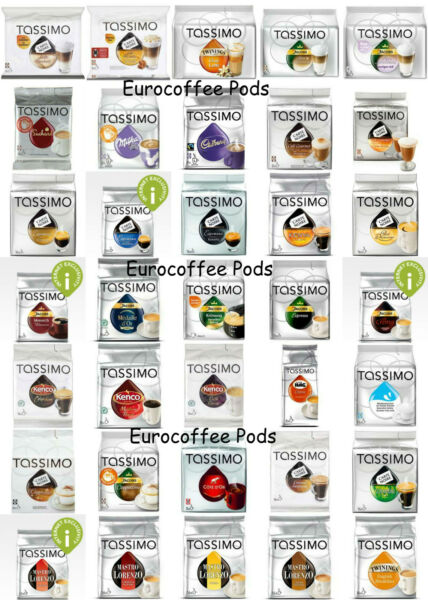 Tassimo Coffee T Discs - T-disc - Capsules - Pods - 44 Flavours To Choose From