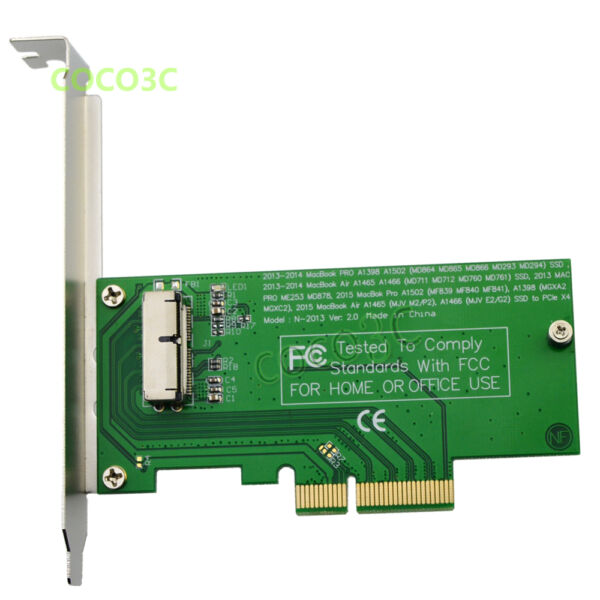 2013 2014 MacBook Air A1465 A1466 Pro A1502 A1398 SSD to PCIe 4X Desktop adapter