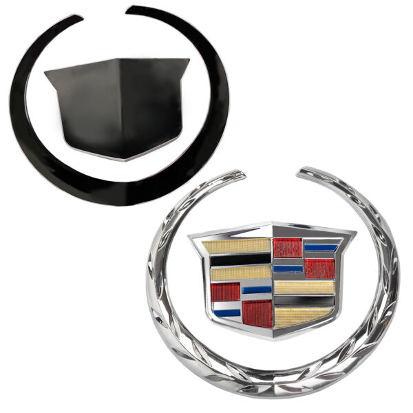 Cadillac Escalade Front Grille Emblem Crest &Wreath Logo Badge Chrome 5.75*6.25