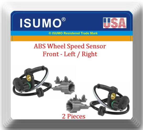 2 ABS Speed Sensor  Front Left & Right Fits: Frontier Pathfinder Xterra Equator