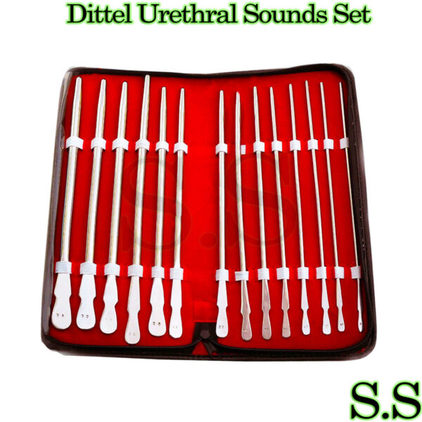 New Stainless 14 Pieces Set Of Dittel Urethral Sounds Gynecology Surgical