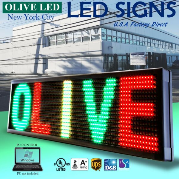 OLIVE LED Sign 3Color RGY 19