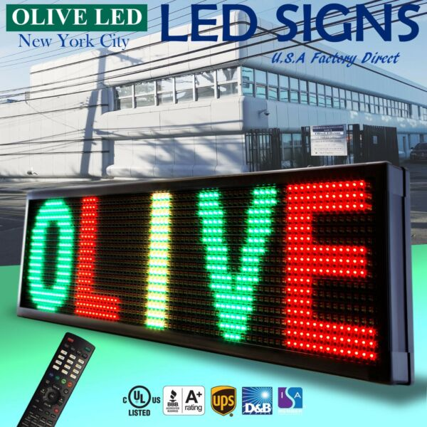 OLIVE LED Sign 3Color RGY 36
