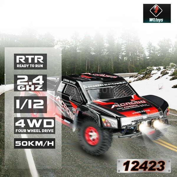 Original Wltoys 12423 1/12 2.4G Electric Brushed Short Course RTR RC Car M5H3