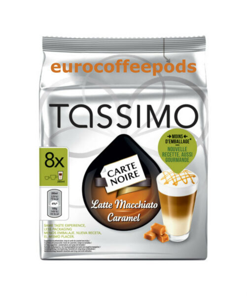 Tassimo Carte Noire Latte Caramel Coffee 5 x Packs (40 Servings) 80 T Disc