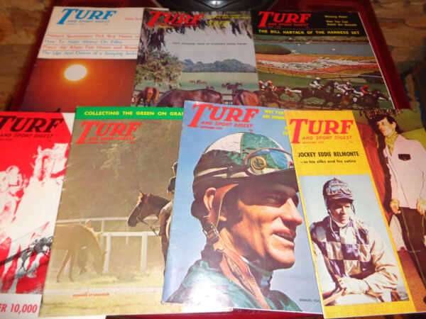 7~Horse Racing Race Track American Turf Monthly Magazine Lot 1970