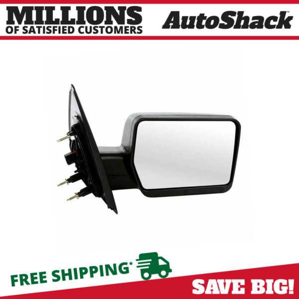 Textured Black Power Passenger Right Side View Mirror for 2004-2008 Ford F-150