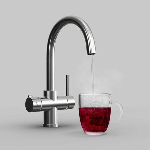 3 Way Instant Boiling Water Kitchen Tap Cold  Hot Water & Digital Heating Unit