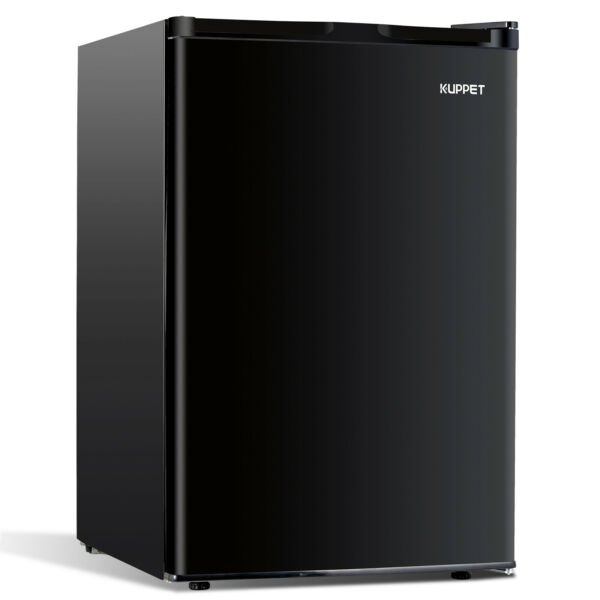 4.6 CU FT Compact Refrigerator Mini Fridge Top Freezer Home Office Dorm Black