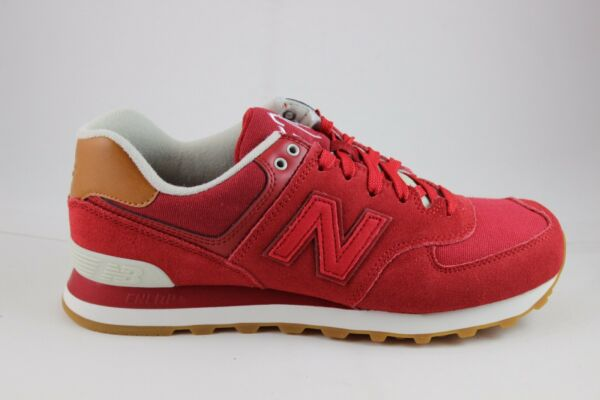 New Balance Men's Classic 574 ML574NEC Crimson/Powder Brand New