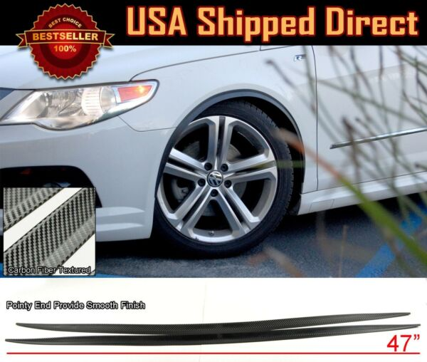Pair 1quot; Arch Wide Fender Flare Extension Black Carbon Protector Lip For Nissan $23.95